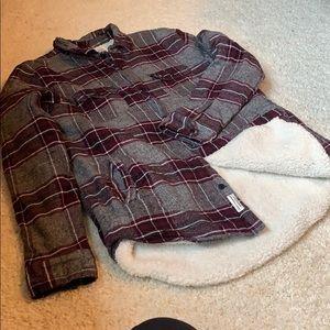 Fleece lined flannel shirt